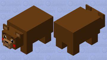 Cute Toy Freddy Minecraft Mob Skin