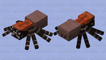 Black Tunnelweb Spider Minecraft Mob Skin