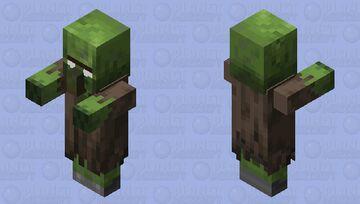 Herobrine Zombie Villager Minecraft Mob Skin