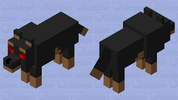 Angry Rottie Minecraft Mob Skin