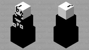 WD Gaster Snow Golem Minecraft Mob Skin