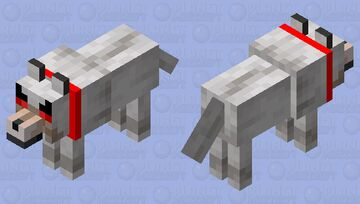 Your pet wolf hates you. Minecraft Mob Skin