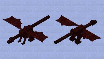 Maroon Death : Dragon Skin Minecraft Mob Skin