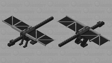 [Finally Finished] Simplistic Ender Dragon Minecraft Mob Skin
