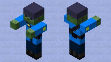 TF2 BLU Soldier Zombie Minecraft Mob Skin