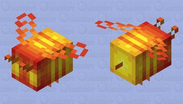 Jack-o'-Lantern Bee - Mob Skintober 2020 - Day 31 Minecraft Mob Skin