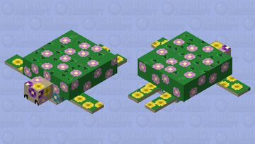 Flora the Floral Turtle Minecraft Mob Skin