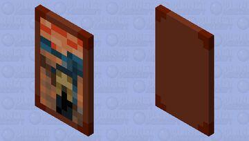 The Scream Cape Minecraft Mob Skin
