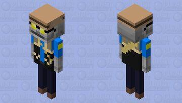 TF2 BLU Sniper Skeleton Minecraft Mob Skin