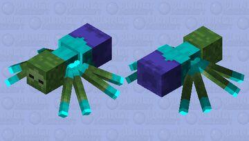 Mutated zombie as spider Minecraft Mob Skin