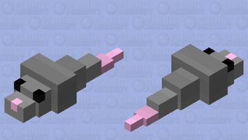 Mouse skin for the silverfish Minecraft Mob Skin