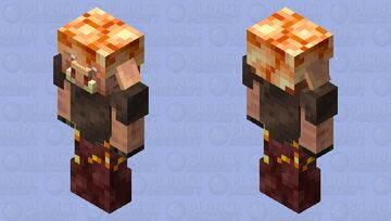 Piglin with mismatched armor (nether) Minecraft Mob Skin