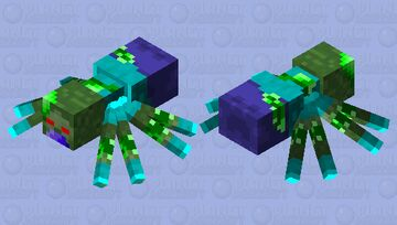 Mutated zombie as cave spider Minecraft Mob Skin