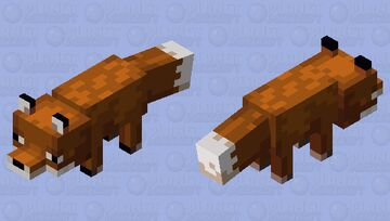 Brown Fox Minecraft Mob Skin