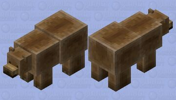 Grizzly Bear: Winterhaven Beasts and Baddies Minecraft Mob Skin