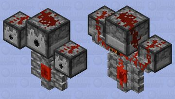 Redstone Wither Minecraft Mob Skin