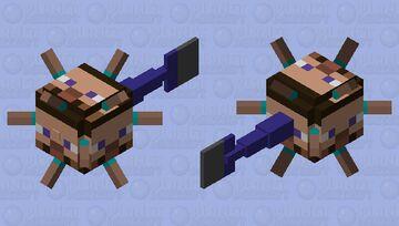 Steve Guardian Minecraft Mob Skin