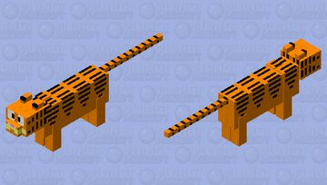 Garfield the Cat Minecraft Mob Skin