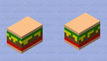 The Flying Burger Minecraft Mob Skin