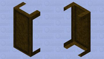 Dark oak/spruce antique dining table - useful for old style builds Minecraft Mob Skin