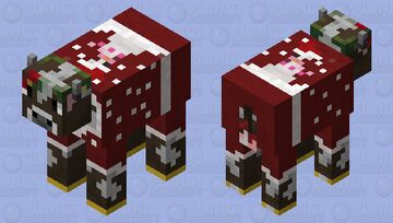 Christmas cow sweater Minecraft Mob Skin