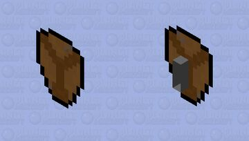 Damaged leather Shield Minecraft Mob Skin