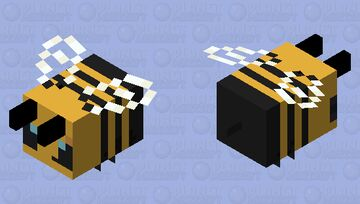 Simple Bee Minecraft Mob Skin
