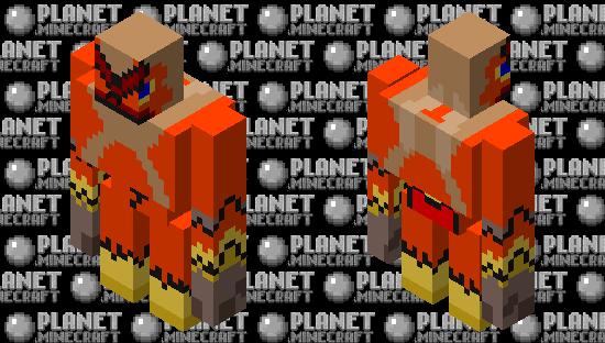 Iron Golem/Blaziken Minecraft Skin