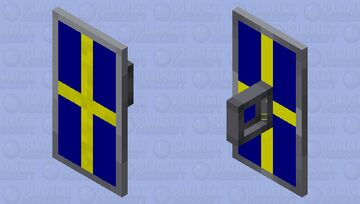 Swedish Shield Minecraft Mob Skin