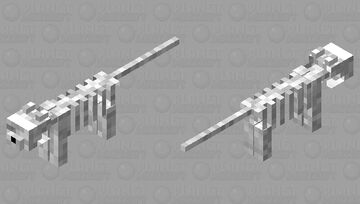 Skeleton Cat Minecraft Mob Skin