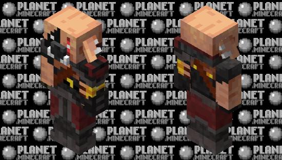 Piglin brute Minecraft Skin