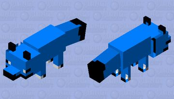 blue fox and pmcskin3d was glitching so some of the stuff is weird Minecraft Mob Skin