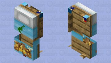 Animal Crossing bed - 1.14 and newer Minecraft Mob Skin