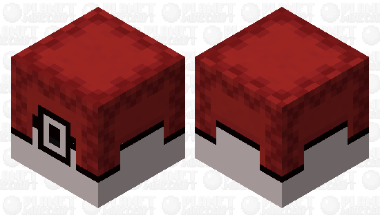 I know this is very cliche but this is a pokeball (pokemobs submission) Minecraft Skin