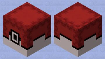 I know this is very cliche but this is a pokeball (pokemobs submission) Minecraft Mob Skin