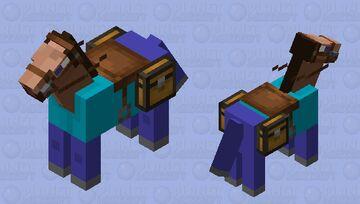 Steve Horse Minecraft Mob Skin