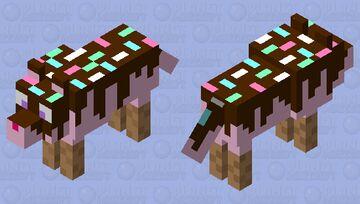 Ice cream Wolf Minecraft Mob Skin