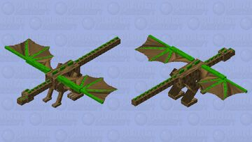 Nature's Wooden Dragon! Minecraft Mob Skin