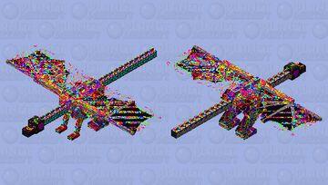 Rainbow Confetti Celebration Dragon! Minecraft Mob Skin