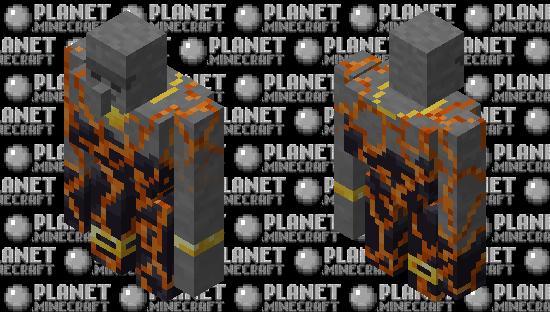 Magma Moai Style Golem Thing Minecraft Skin