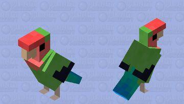 Rosy-faced lovebird Minecraft Mob Skin