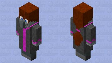The happy receptionist Minecraft Mob Skin