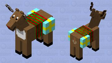 Rudolph the Red Nosed Reindeer Minecraft Mob Skin