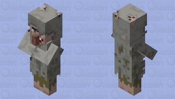 Cave Villager Minecraft Mob Skin