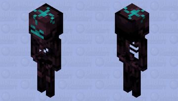 Soul Sand Skeleton Minecraft Mob Skin