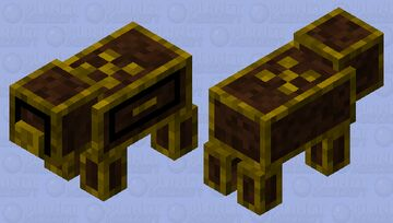 Fancy golden table cabinet Minecraft Mob Skin