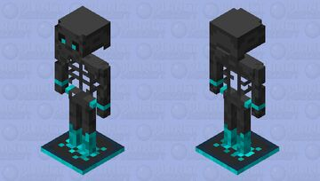 Trapped Skeleton Armor Stand Minecraft Mob Skin