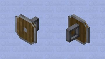 Now you are not blind when you are holding a shield Minecraft Mob Skin