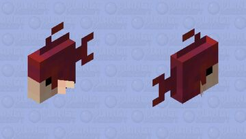 Me, but a fish Minecraft Mob Skin