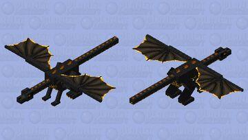 Cinder Dragon: Winterhaven Beasts and Baddies Minecraft Mob Skin